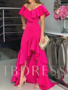 Unique Prom Dresses, hot pink fashion prom dress, There are long prom gowns and knee-length 2020 prom dresses in this collection that create an elegant and glamorous look Tight Prom Dresses, Maxi Dresses, Dress Prom, Casual Dresses, Elegant Dresses, Party Dresses, Woman Dresses, Prom Gowns, Homecoming Dresses