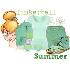 Tinkerbell Summer by trulydear on Polyvore featuring Jane Norman, Barbour, Latigo, Oasis, Disney, Liz Claiborne, Cheap Monday and Ray-Ban