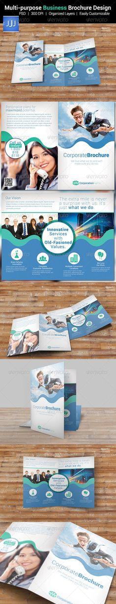 Multipurpose Business Bi-fold Brochure 15 - Corporate Brochures