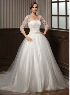 Wedding Dresses - $223.99 - Ball-Gown Sweetheart Chapel Train Satin Tulle Wedding Dress With Lace Beadwork Sequins  http://www.dressfirst.com/Ball-Gown-Sweetheart-Chapel-Train-Satin-Tulle-Wedding-Dress-With-Lace-Beadwork-Sequins-002008173-g8173