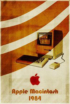 Apple Macintosh - Retro Poster