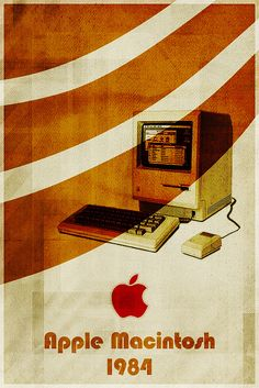Apple Macintosh - Retro Poster