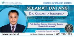 Seminar Business Information System: Corporate Governance - 8 Mei 2014
