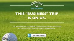 It's too late to apply, but isn't ths Callaway and LinkedIn contest the coolest? More LinkedIn tips at http://getonthemap.us/linkedin/blog #573tips #linkedin