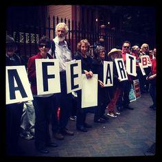 TAFE ART RAGE protest 14/11/12