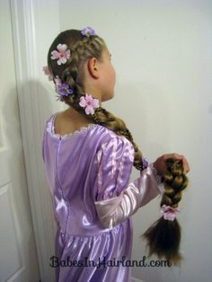 Rapunzel Hair Tutorial – Using Extensions. Throw in some of your favorite Gimme flower clips!