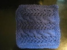 KNITTING AND WEAVING TIDBITS!: 10 Day Dishcloth Countdown! Day 9 ~ Lace Cable Knitted Dishcloth