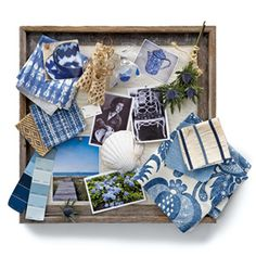 Use blue colors to give a real warm beach feel to any room.  These ideas are from Coastal Living magazine.