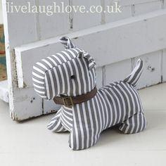 Stripy Doggie Door Stop
