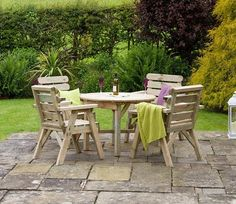 The Abbey Round Table and 4 Chair Set is manufactured from excellent timber that is sourced from managed forests.