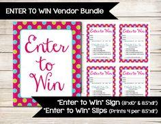 NORWEX | Enter to Win | Raffle Ticket | Drawing Slip | Door Prize ...