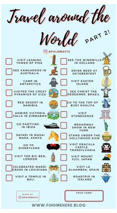 Travel Checklist, Travel List, Free Travel, Zoo Travel, Travel Icon, Travel Guide, Checklist Template, Destination Voyage, Photos Voyages