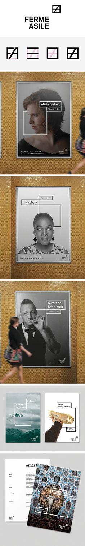 More corporate-designs are collected on: https://pinterest.com/rothenhaeusler/best-of-corporate-design/ · Agency: formazandenmatten · Client: Ferme Asile · Source: http://www.kleinerundbold.com/arbeiten/neue-marke-f%C3%BCr-neue-m%C3%A4rkte #branding #identity #corporatedesign