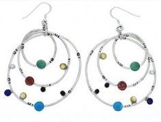 Southwest Multicolor Sterling Silver Hook Earrings Jewelry JX22919 $129.99