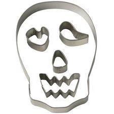 Skull Shaped Cookie Cutter Set by Wilton Expression Halloween Cookie Cutters, Cookie Cutter Set, Shaped Cookie, Bat Signal, Superhero Logos, Shapes, Cookies, Skeletons, Skulls