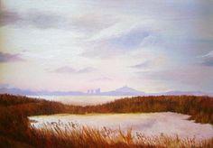 "Sunset in Cagliari   oil on canvas panel 30"" x 40"""
