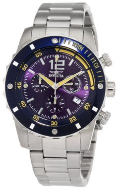 Invicta Men's 1246 II Collection Chronograph Blue Dial Stainless Steel Watch Invicta http://smile.amazon.com/dp/B005DRE2N6/ref=cm_sw_r_pi_dp_8RvPub1JQ7ZBS