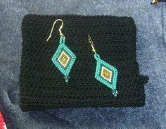 Brick stitch diamond