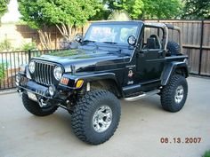 Black Jeep TJ Jeep Cj7, Jeep Wrangler Yj, Jeep Wrangler Unlimited, Cj Jeep, Wrangler Sahara, Jeep Truck, Chevy Trucks, Auto Jeep, Jeep Wrangler Accessories