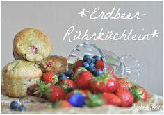 Erdbeer-Rührküchlein mit Basilikum-Zitronen-Guss