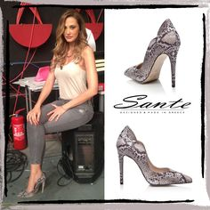 Aleka Kamila in SANTE Pumps #santeSS15 Collection #SanteLovers Shop online: www.santeshoes.com