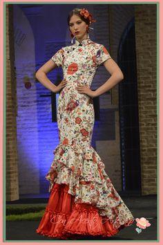Traje de flamenca estampado inspirado en los Qi Pao de Maria del Mar Marín