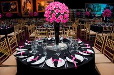 Festa tema cinema: decoração rosa para 15 anos