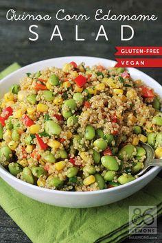 Quinoa Corn Edamame Salad | 23 Vegan Meals With Tons Of Protein