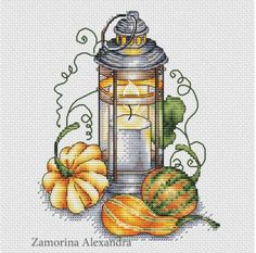 Autumn Lantern by sa-pattern.com, PDF chart