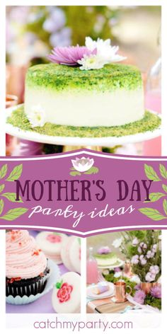 SomethingSoSam's Mother's Day / Nature Inspired - Mother's Day Picnic in the Park at Catch My Party Tea Party Desserts, Wedding Desserts, Fun Desserts, Cake Branding, Ninja Birthday Parties, Garden Cakes, Balloon Decorations Party, Rustic Cake, Candy Party