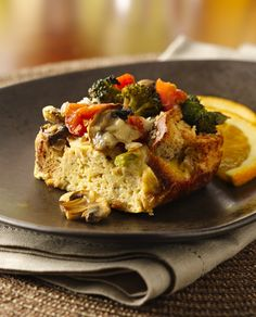 Mushroom Asiago Omelette Recipe — Dishmaps