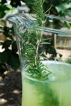 Rosemary Lemonade With Cherries Recipe — Dishmaps