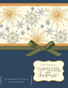 Serene Snowflakes MDS by SandyWstamps - Cards and Paper Crafts at Splitcoaststampers