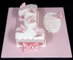 Butterfly number one cake