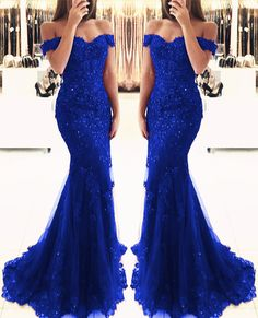 Royal blue lace pearl beaded mermaid evening dresses off the shoulder prom gown Blue Mermaid Prom Dress, Royal Blue Prom Dresses, Mermaid Evening Dresses, Evening Gowns, Lace Mermaid, Mermaid Gown, Royal Blue Lace Dress, Royal Blue Bridesmaid Dresses, Burgundy Dress