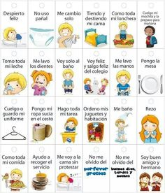 rutinas niños horarios ✿ Spanish Learning/ Teaching Spanish / Spanish Language / Spanish vocabulary / Spoken Spanish ✿ Share it with people who are serious about learning Spanish! Education Positive, Kids Education, Toddler Activities, Learning Activities, Teaching Spanish, Spanish Vocabulary, Pre School, Kids And Parenting, Childhood