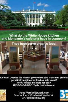 Monsanto doesn't want to eat it's own product?  How peculiar.....