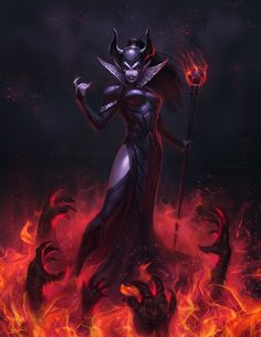 Evil Elf Summoner by ~Cribs on deviantART