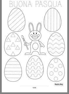 Easter Activities For Kids, Animal Crafts For Kids, Easter Crafts For Kids, Toddler Activities, Preschool Worksheets, Preschool Crafts, Diy Ostern, Coloring Easter Eggs, Holiday Fun