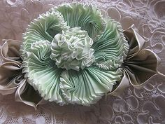 Vintage Style French Ombre Millinery Ribbon Flower Pin Ribbon Work Corsage | eBay