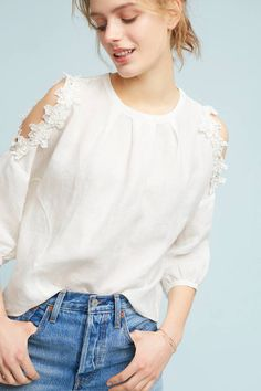 Discover sale tops for women at Anthropologie, including sale tees, blouses, tanks and more. Spring Wear, Spring Summer, Spring Style, Floral Texture, Boho Fashion, Womens Fashion, Spring Fashion, Trends, Comfortable Fashion