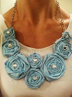 rosette necklace tutorial