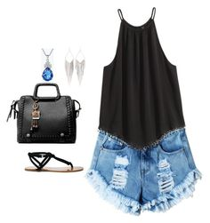 """""""Untitled #267"""" by abrown805 ❤ liked on Polyvore featuring Sole Society, Jules Smith, Summer and outfits"""