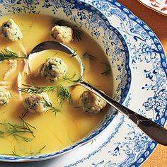Lemon Chicken Soup with Dumplings Recipe