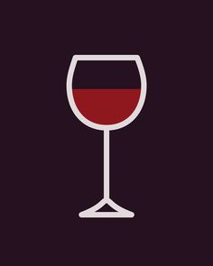 Wine - Icon Prints: Drinks Series