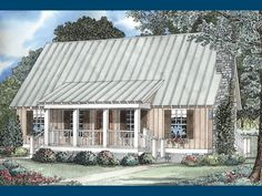 small open house plans with walkout basement | Foxton Craftsman Cabin Home Plan 055D-0068 | House Plans and More