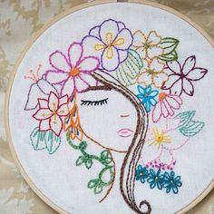 Embroidery Thread Inventory like Embroidery Hoop Replacement also Embroidery Library Order History on Embroidery Junction Creative Embroidery, Simple Embroidery, Hand Embroidery Stitches, Embroidery Hoop Art, Hand Embroidery Designs, Vintage Embroidery, Ribbon Embroidery, Cross Stitch Embroidery, Pattern Drawing