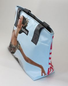 Tote made from upcycled Sleeping Beauty ballet posters. $79 on Ethical Ocean. #handmade #upcycled #oneofakind