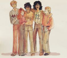 the marauders and lily - let's not forget that they were teenagers of 70s   that means   UGLY FASHION TRENDS