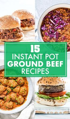 These 15 Instant Pot Ground Beef Recipes are flavorful and affordable. From classics to healthier fare, you'll love these ground beef instant pot recipes! Best Instant Pot Recipe, Instant Pot Dinner Recipes, Supper Recipes, Lunch Recipes, Appetizer Recipes, Meat Recipes, Potted Beef Recipe, Cupcakes, Cocktails